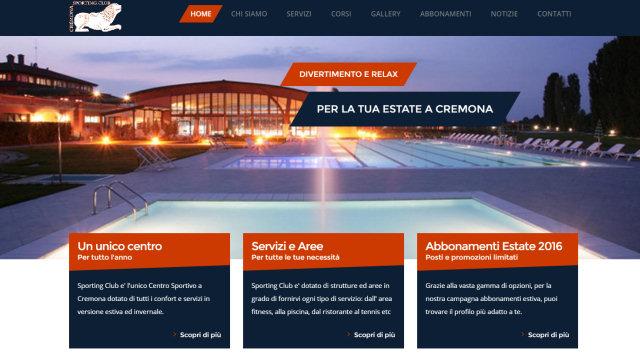 Sporting Club Cremona - Creazione sito web e Profilo Instagram