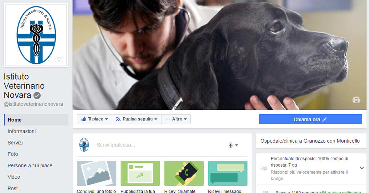Istituto Veterinario Novara - Campagna di Social Media Marketing